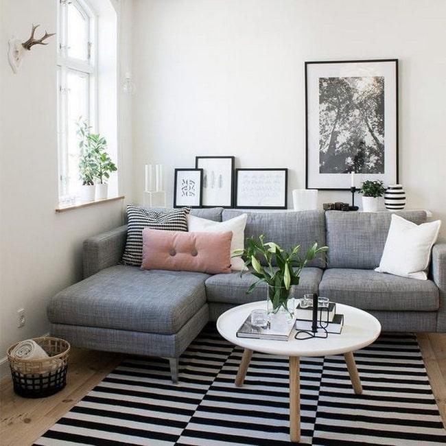 Color gris para decorar la sala - DecoActual.com